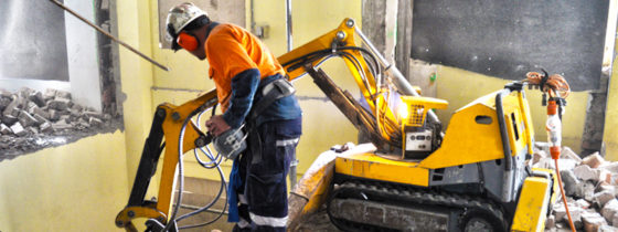 commercial project philips st sydney brokk demolition robot