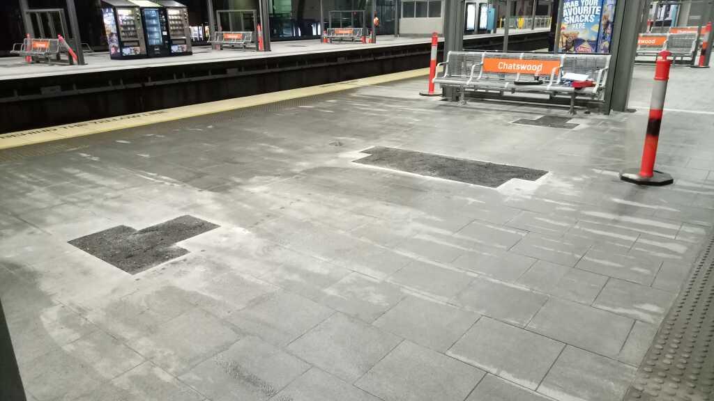 Demolition Chatswood Train Station