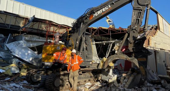 Demolition of three warehouses in Mascot