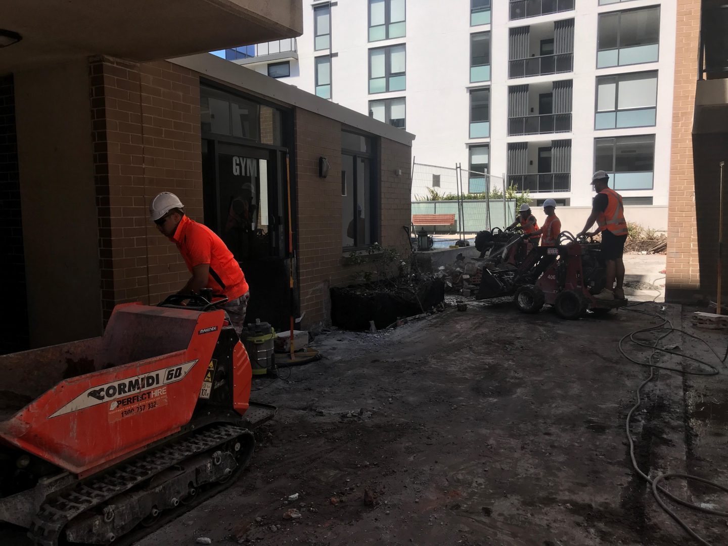 Remedial works in Mascot Towers