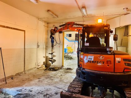 Footing Excavation – Hawke's Brewery - Perfect Contracting